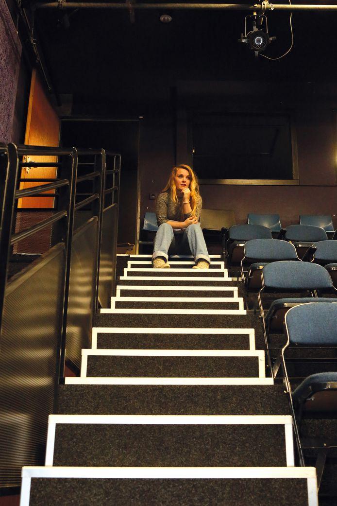 Michèle Rijzewijk in Pand P in Eindhoven, uitvalsbasis van haar theatergezelschap Mies-en-Scène