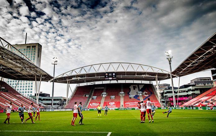 Lege tribunes op 8 november bij FCUtrecht - Ajax (0-3), een affiche dat normaal garant staat voor een kolkende Galgenwaard.