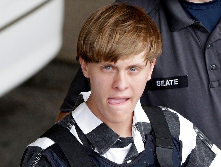 Dylann Roof vermoordde in 2015 negen zwarten in een kerk in Charleston, VS.  Beeld AP