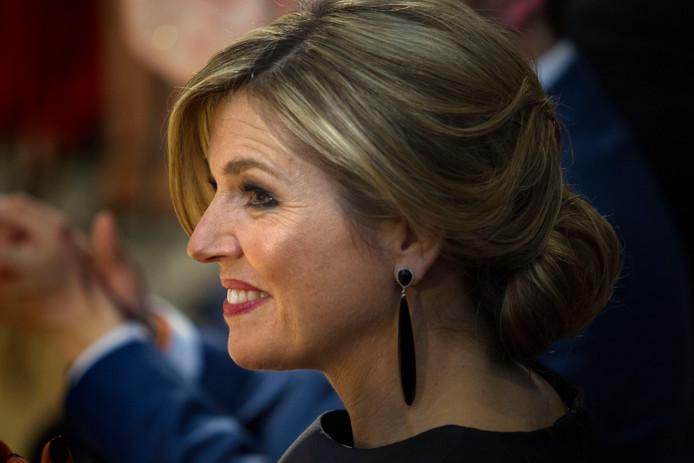 Koningin Máxima tijdens een bezoek aan Eindhoven.