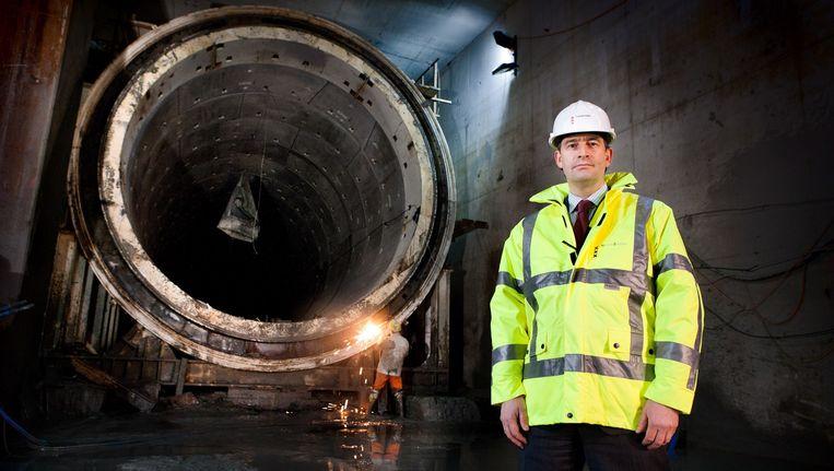 Peter Dijk trad in 2008 aan als directeur van het projectbureau Noord/Zuidlijn. Beeld Klaas Fopma (www.klaasfopma.nl)