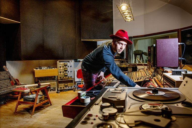 Kasper Frenkel Frank, oprichter van muziekstudio Electric Monkey in Noord. Beeld Jean-pierre Jans