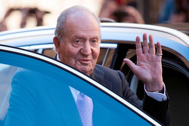 Oud-koning Juan Carlos Beeld AFP