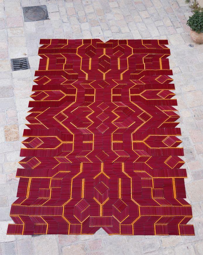 Pencil Carpet, van We Make Carpets in 2017, Jeruzalem, Israël.