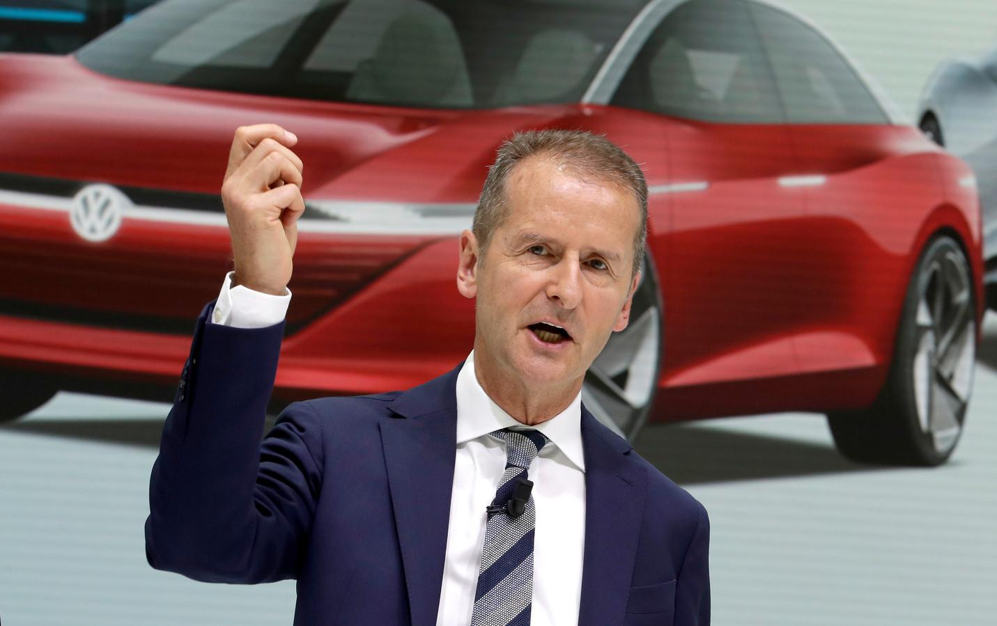 Herbert Diess, ceo van de Volkswagen Group: ,,Je moet geen waterstof in auto's stoppen.''