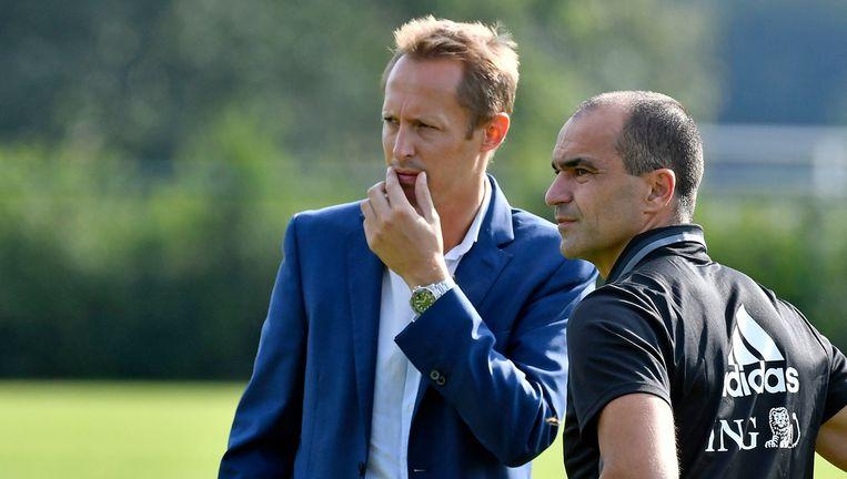 Bob Madou met bondscoach Roberto Martínez. Beeld Photo News