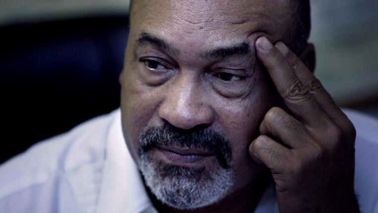 Desi Bouterse, president van Suriname en een van de verdachten in de zaak over de Decembermoorden. Beeld ANP