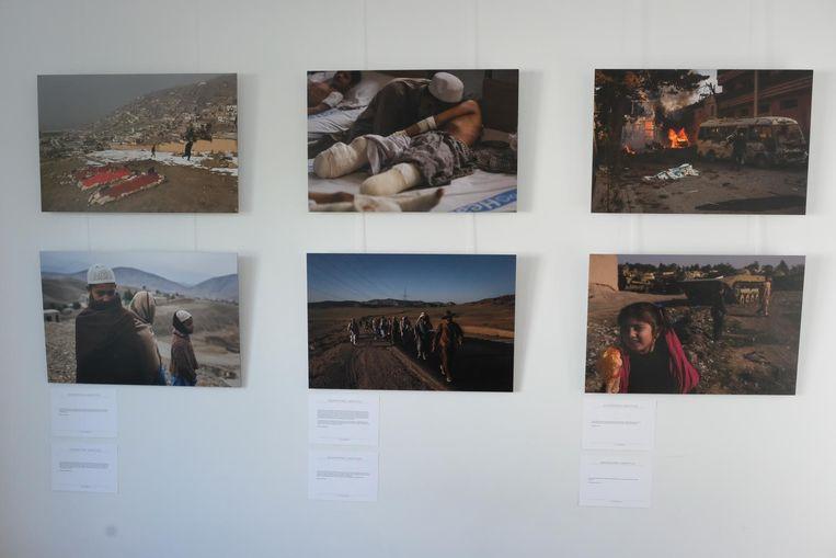 Foto's van de expositie van Jim Huylebroeck.