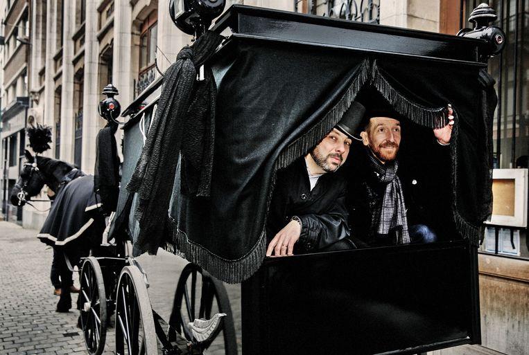 Scenarist Xavier Dorison (links) en tekenaar Ralph Meyer (rechts). Beeld Tim Dirven