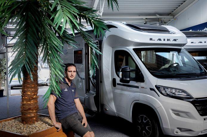 Camper- en caravanverkoper Joeri Coppelmans.