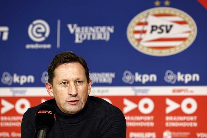 Roger Schmidt na het duel van PSV met AZ.
