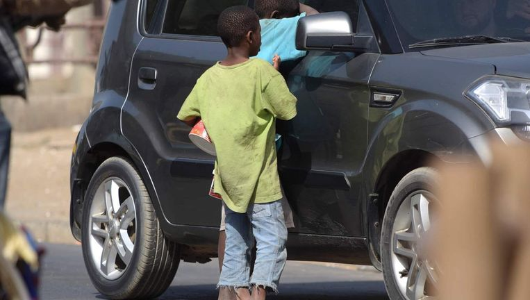 Straatkinderen in Senegal. Beeld afp