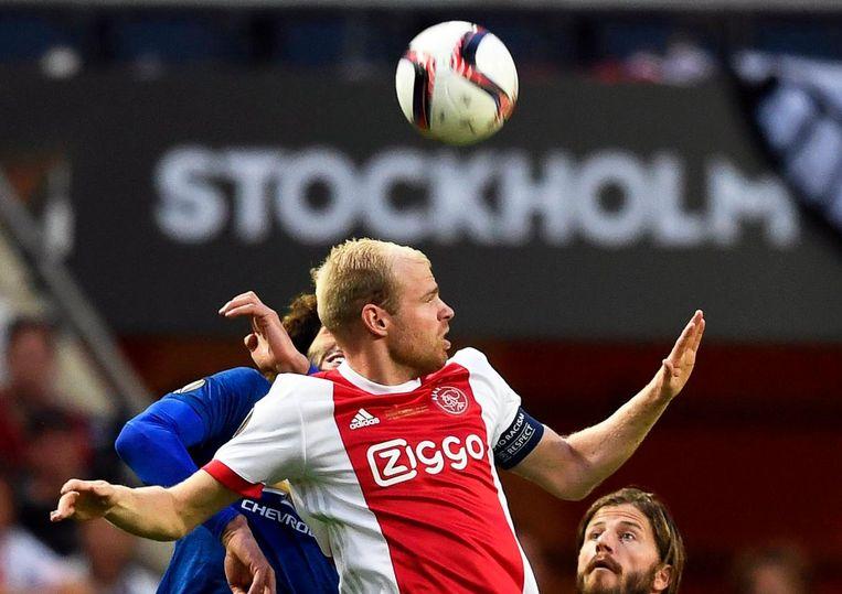 Davy Klaassen woensdagavond in actie in de Europa League-finale in Stockholm. Beeld ANP