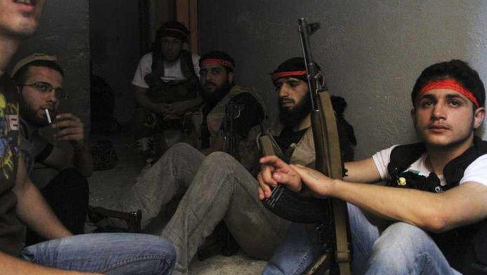 Strijders van het Vrije Syrische Leger.