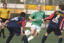 Jordi Holtkamp in 2007 in actie namens HSC'21 tegen Joure. Hij speelde negen jaar voor de club uit Haaksbergen.