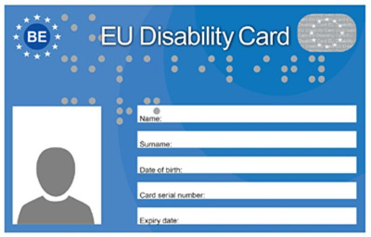 EU Disability Card / Europese gehandicaptenkaart.
