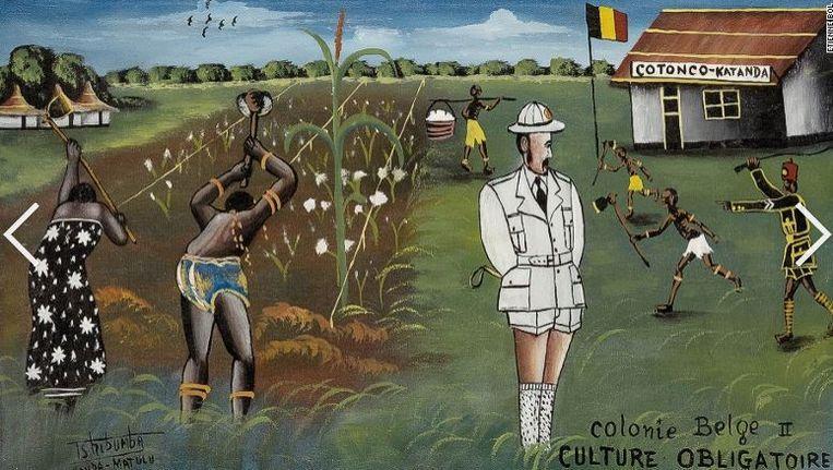 'Dwangarbeid' van Tshibumba Kanda-Matulu.