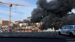 Zware brand in meubelzaak Sainctelette in Brussel