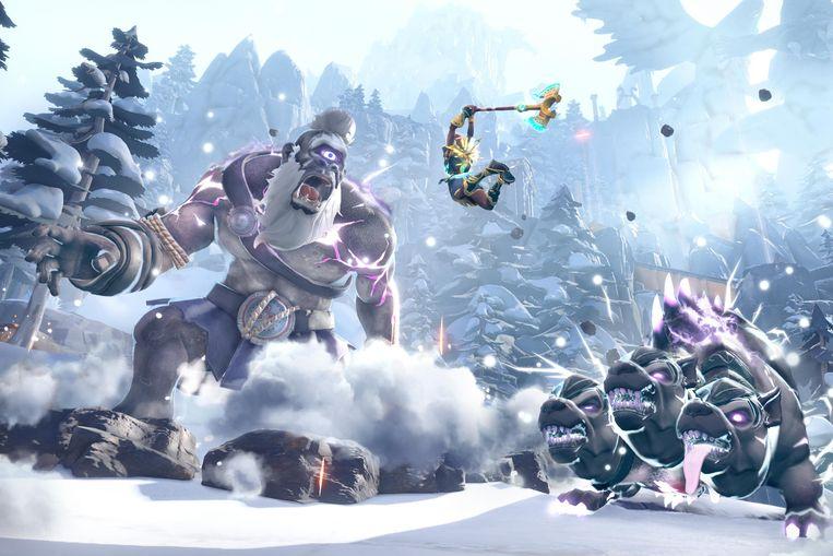 Fenyx lijkt onder ijspret iets anders te verstaan dan de meeste gewone stervelingen. Beeld Ubisoft