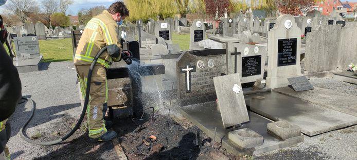 De brandweer kreeg de brand snel onder controle.