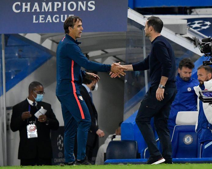 Julen Lopetegui en Frank Lampard.