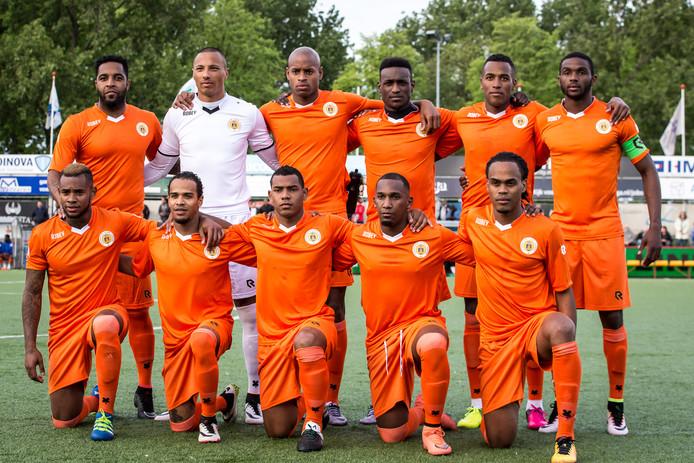 Het elftal van Curaçao op archiefbeeld.