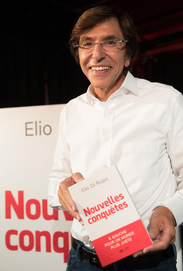 Elio Di Rupo tijdens de presentatie van zijn boek, Nouvelles Conquêtes