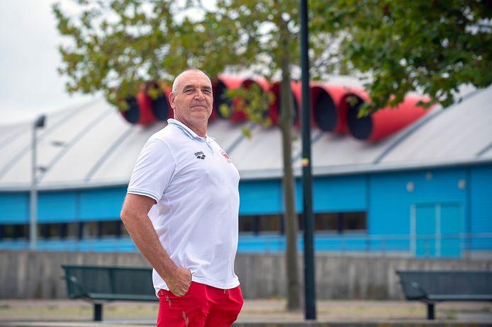 Waterpolo-coach Ed Beurskens.