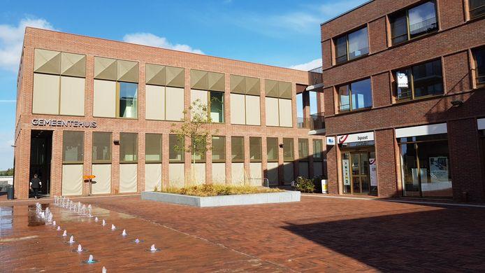 Het gemeentehuis van Wetteren.
