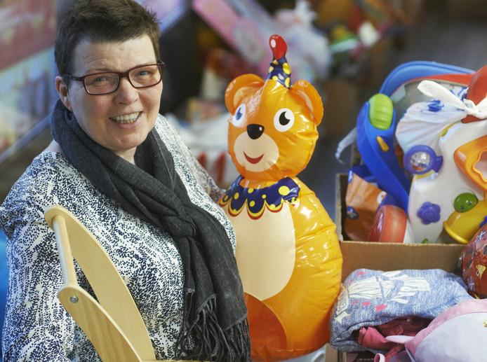 Arnie van Duijnhoven gebruikt haar drukkerij nu voor opslag van speelgoed.