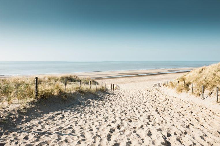 Sandy dunes on the coast of North sea in Noordwijk, Netherlands, Europe. Beeld Getty Images/iStockphoto
