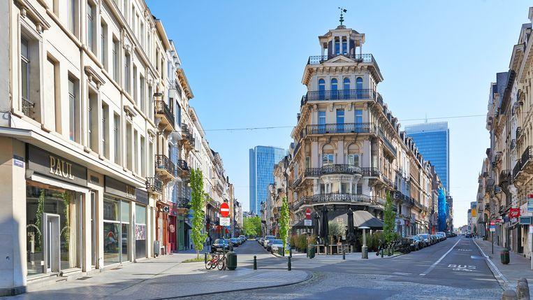 Het centrum van Brussel is in eerste instantie voor drie maanden tot woonerf gemaakt.  Beeld Getty Images
