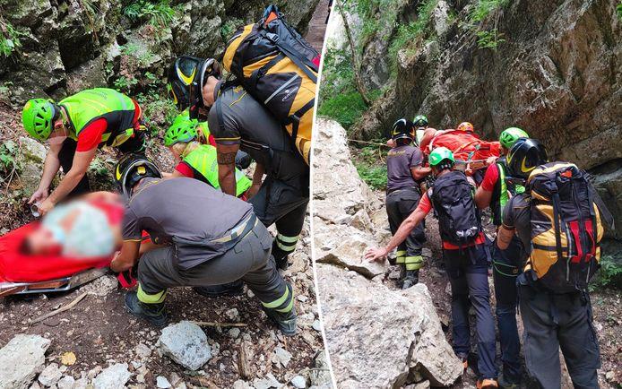 Enkele beelden van de reddingsactie.