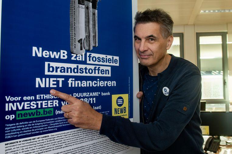 Bestuurder en woordvoerder Koen De Vidts blijft in NewB geloven. Beeld Philip Reynaers/Photo News