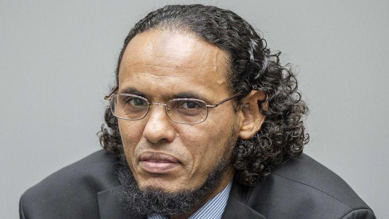 Ahmad al-Mahdi vandaag voor het Internationaal Strafhof in Den Haag. Beeld anp
