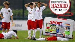 Het 'showmanneke' met de Gameboy en het nektapijt: de eerste keer van Eden Hazard op de sportcover van HLN