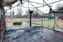 Vorig jaar brandde een 'noodclubhuis' van Tennisvereniging Heino af.