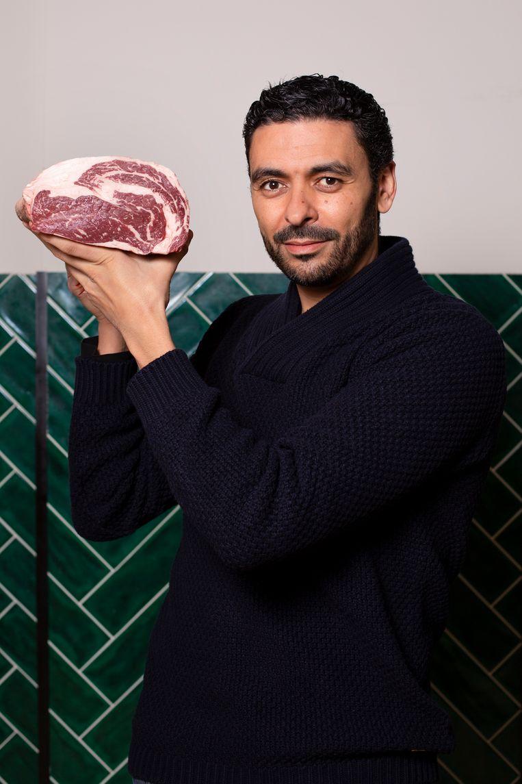 Rachid Kaddour (43) van Slagerij Kaddour. Beeld Susanne Stange