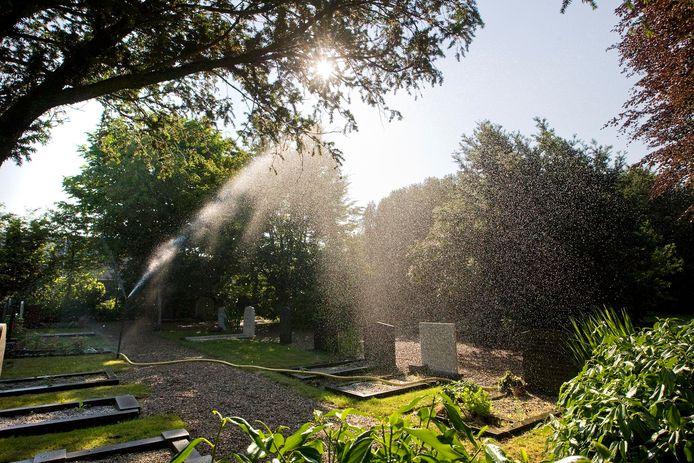 De begraafplaats in De Lier.