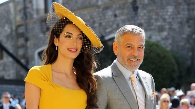 """Uitgenodigd op het huwelijk, maar George en Amal Clooney """"kenden Harry en Meghan niet"""""""
