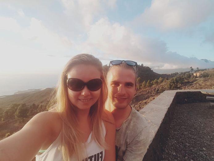Ilona Steur en Tom Kreeft uit Deventer vieren vakantie op La Palma.