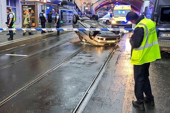 Het ongeval op de Helmetsesteenweg in Schaarbeek.