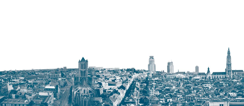 In centrumsteden als Gent, Leuven en Antwerpen zijn de woningprijzen hoog.
