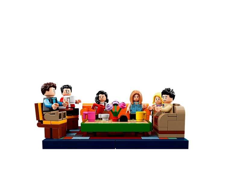 De Friends-personages in legovorm. Beeld rv