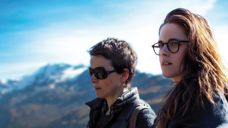 Juliette Binoche (links) en Kristen Stewart in The Clouds of Sils Maria van Olivier Assayas. Beeld