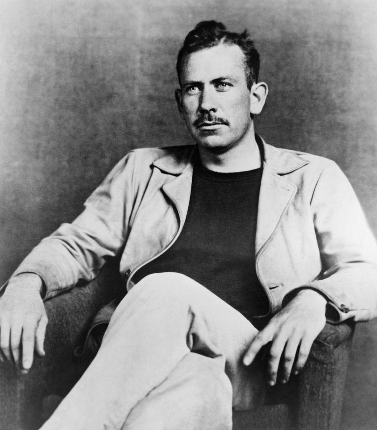 Nobelprijswinnaar John Steinbeck. Beeld Corbis via Getty Images