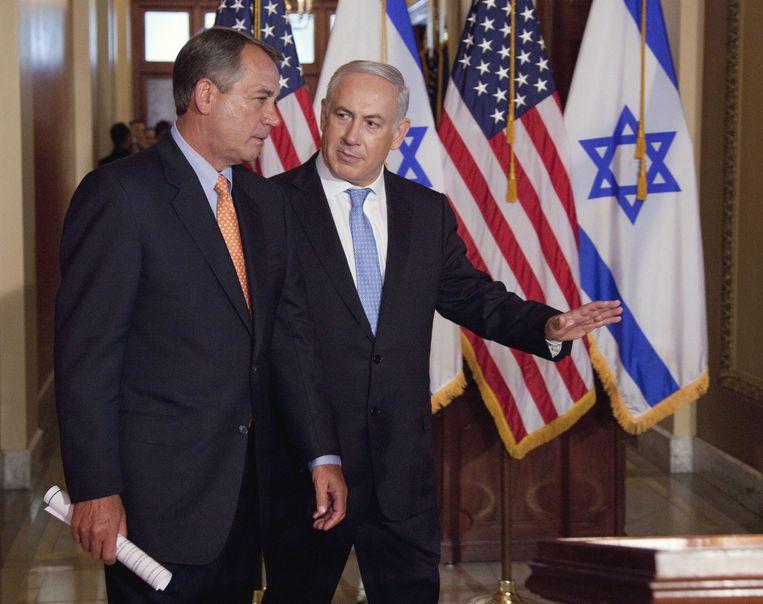 Archieffoto: Boehner en Netanyahu Beeld ap