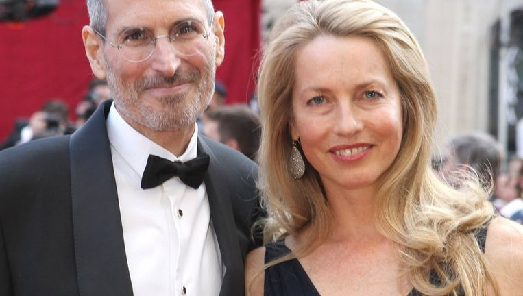 Wijlen Steve Jobs en Laurene Powell in 2007. Beeld Getty Images