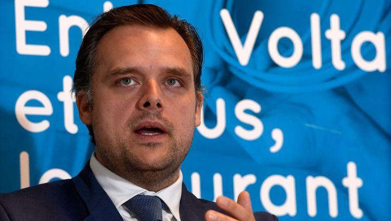 Staatssecretaris voor fraudebestrijding Philippe De Backer Beeld Photo News