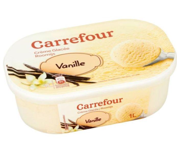 Vanille-ijs van Carrefour.